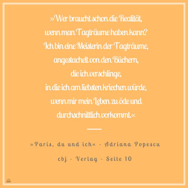 "Freitagszitat ""Paris du und ich"" von Adriana Popescu, cbj Verlag, 2016"