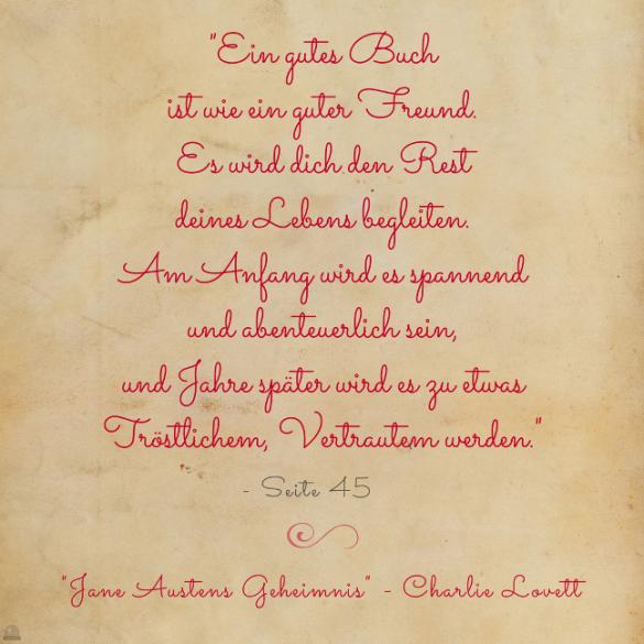 #Freitagszitat 50 - Jane Austens Geheimnis